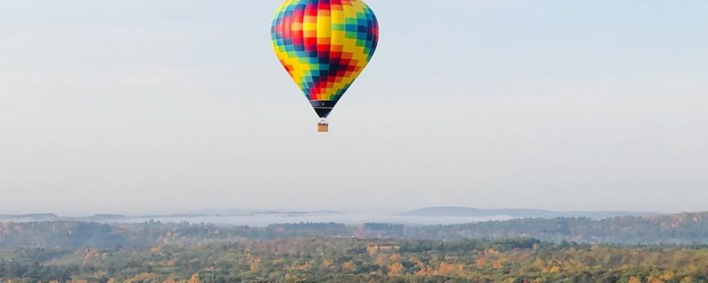 Hot air balloon in sky