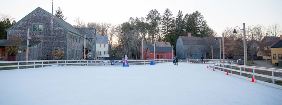 Ice Skating at Strawbery Banke